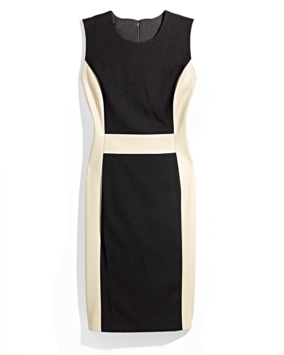 Black and White Structured Dress MA