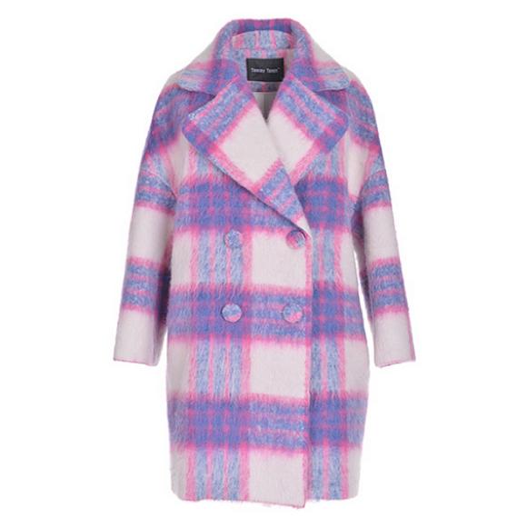 [Freya Stores Rena Tartan Oversize Coat, $99]