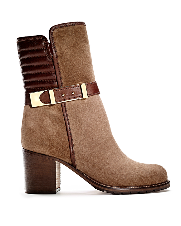 Leather Suede Buckle Boot MA