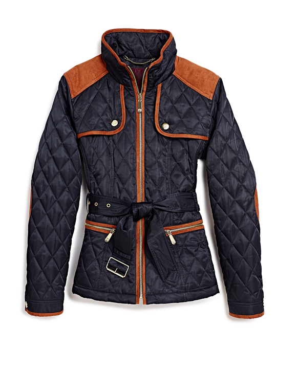 Navy Quilted Jacket MA