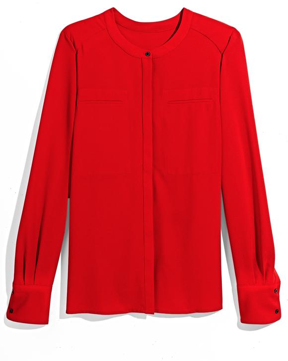 Red Silk Blouse TJ