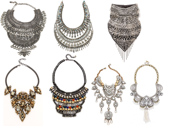 jewelry bib necklaces