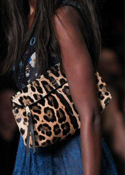 Burberry Prorsum fall 2015 cheetah