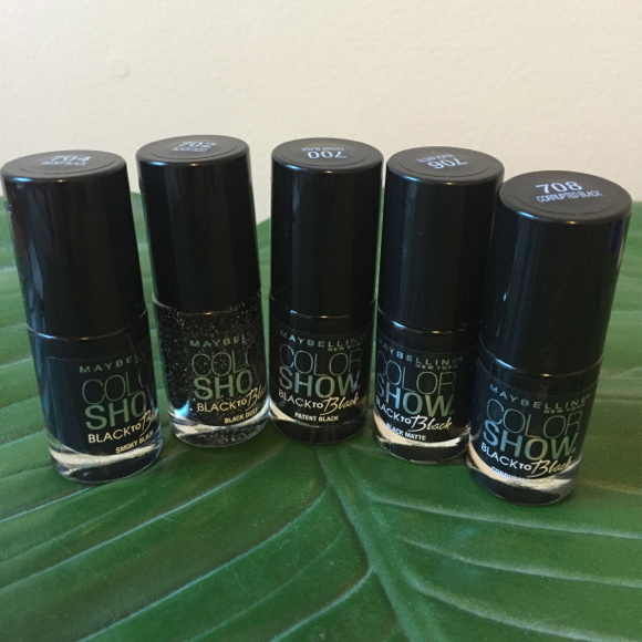 maybelline color show  black to black