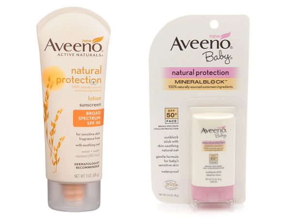 aveeno natural protection sunscreen