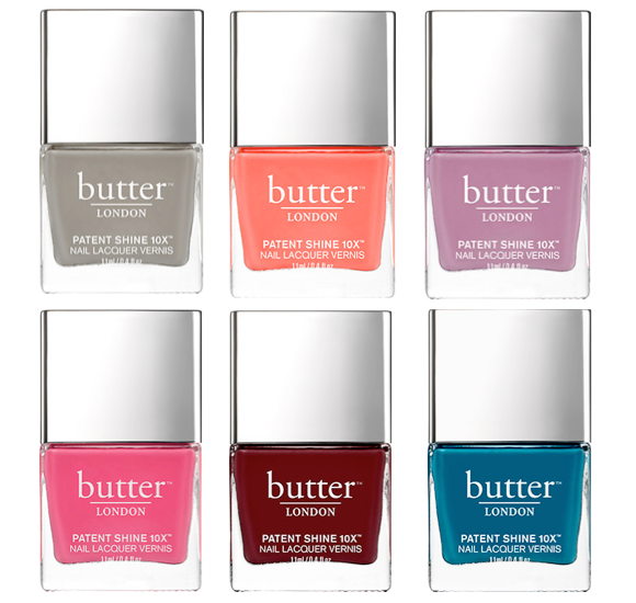 butter london patent shine 10X nail lacquer shades