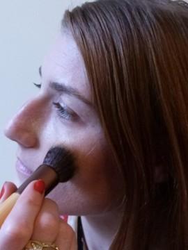 stippling brush application