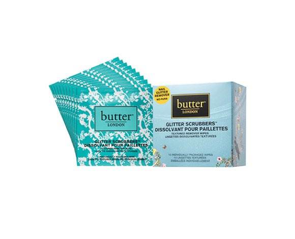 butter LONDON glitter scrubbers