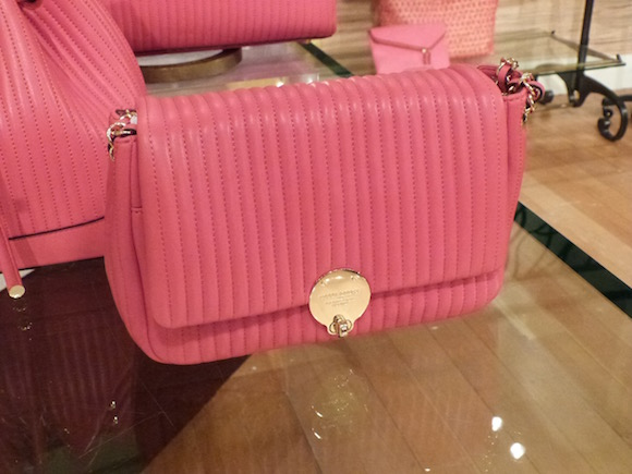 henri bendel no 7 qulited pink bag