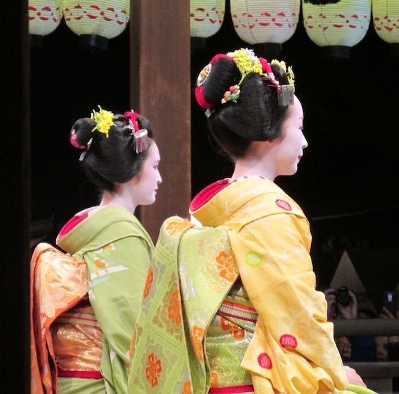 image from a geisha performance kyoto