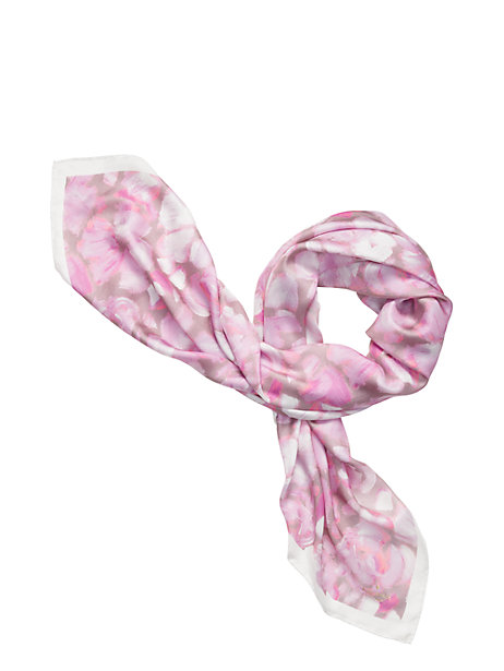 Kate Spade Hazy Rose Square Silk Scarf