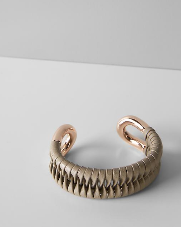 Giles & Brother Leather wrap bracelet banana