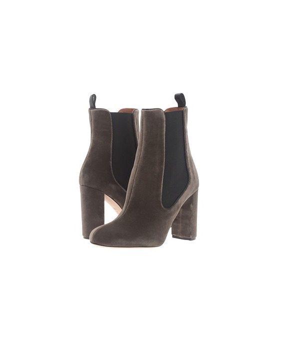 M Missoni Velvet Leather Ankle Boot
