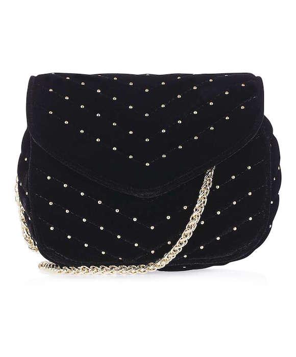 TOPSHOP Velvet Crossbody Bag