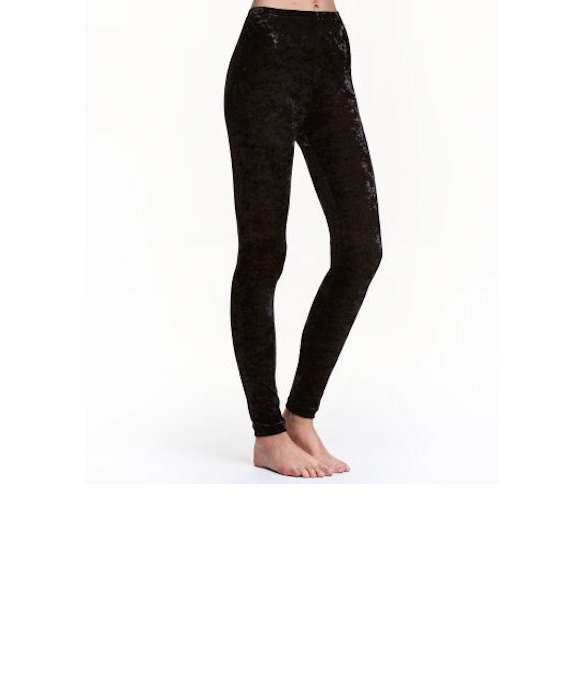 H&M Crushed Velvet Leggings