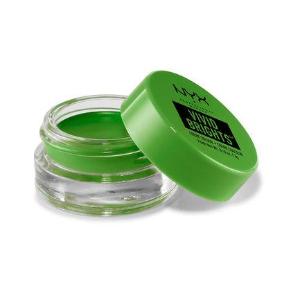NYX Cosmetics Vivid Brights Creme Eye Color in True Green