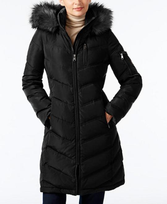 Calvin Klein Faux Fur Trim Down Puffer Coat