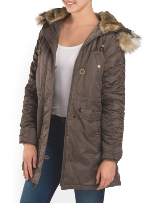 Laundry by Design Hood With Faux Fur Parka