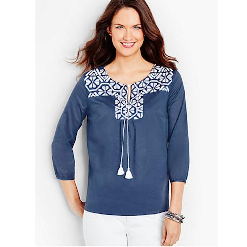 talbots spring blouse
