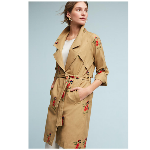anthropologie trench