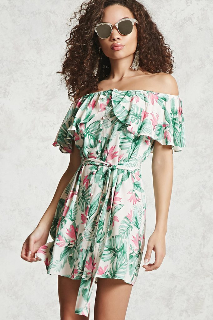 Contemporary Off The Shoulder Dress