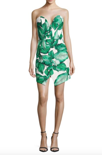 C/MEO Palm Leaf Printed Dress