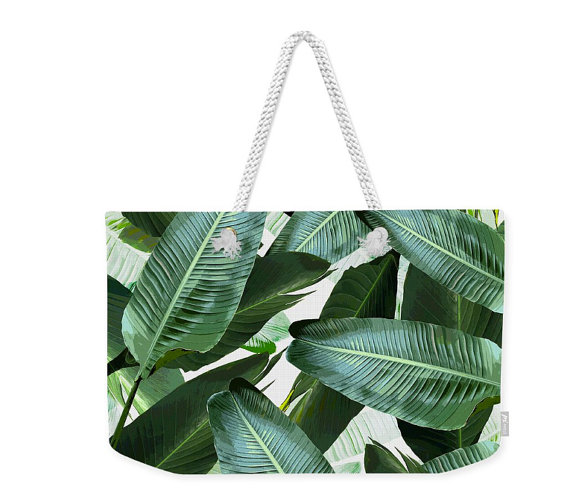 Banana Leaf Beach Bag