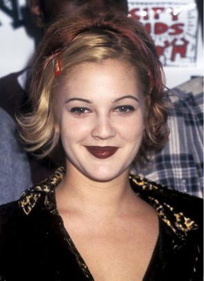 Berry Lips on Drew Barrymore