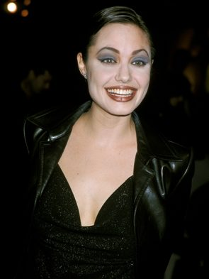 Blue Eye Shadow on Angelina Jolie