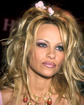 Lip Liner on Pamela Anderson