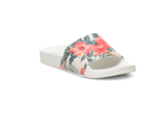 Esprit Floral One Band Pool Slides, $15, TJMaxx.com