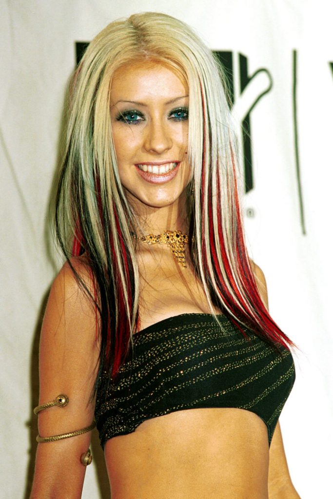 Lined Lower Lids on Christina Aguilera