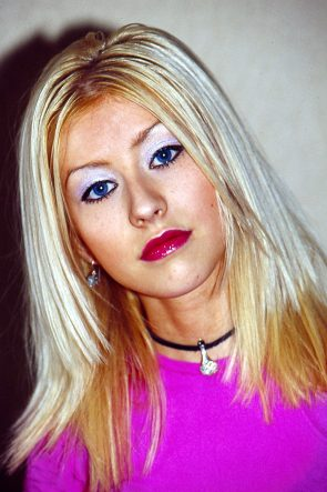 Metallic Eye Shadow on Christina Aguilera