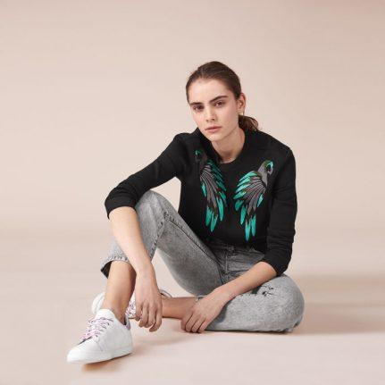 Maje Embroidered Sweatshirt