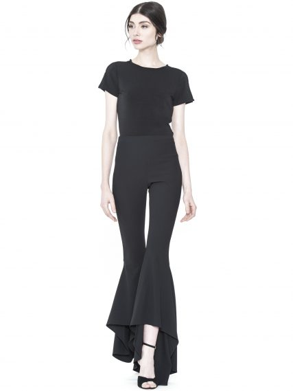 Alice and Olivia Jinny High Low Flare Pant