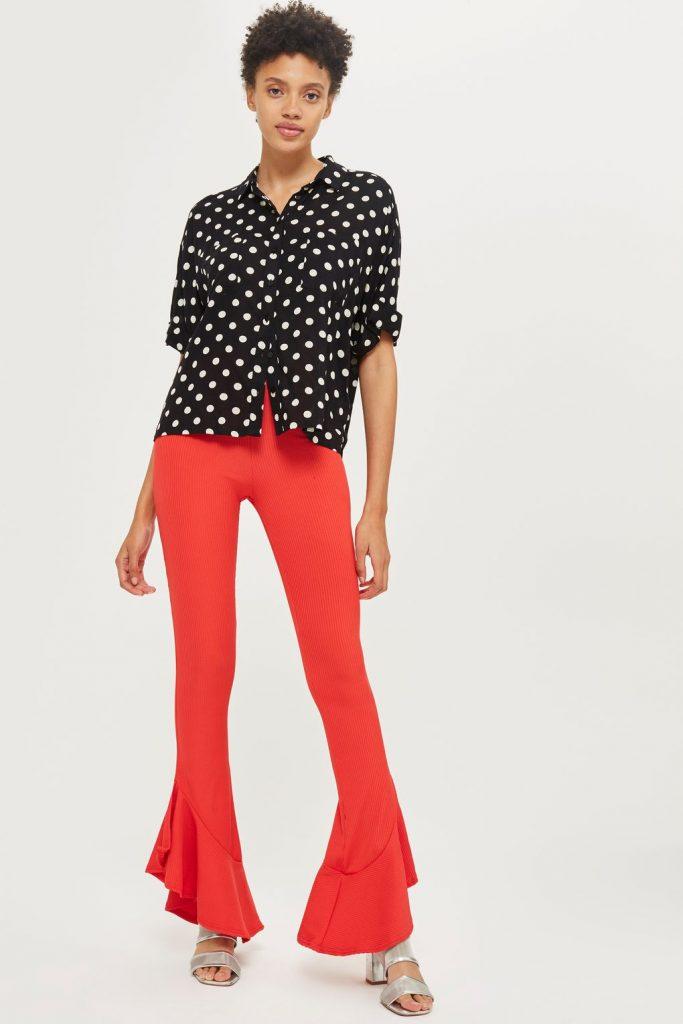 Topshop Mermaid Frill Trousers