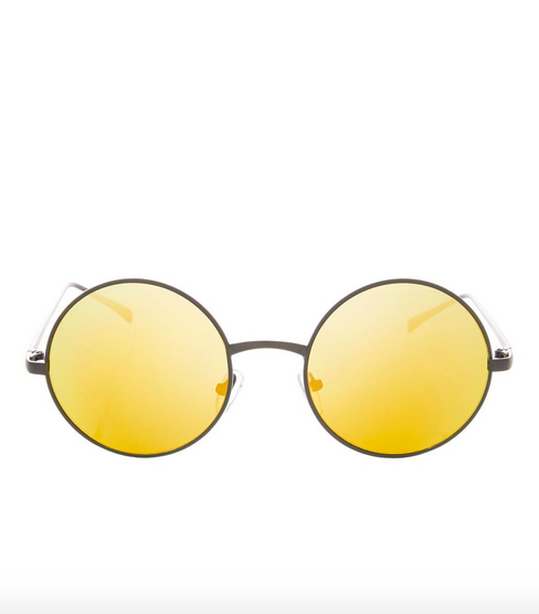 Topshop Flat Lens Round Sunglasses