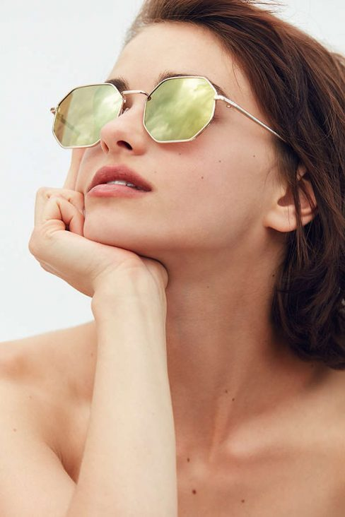 Urban Outfitters Quay On A Dime Geometric Sunglasses
