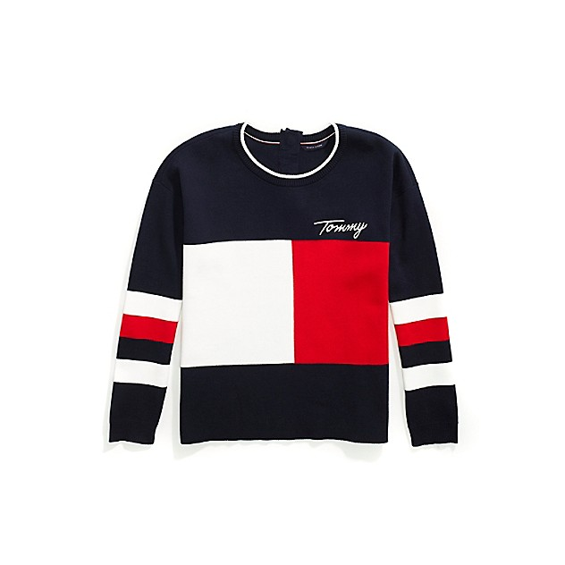 Tommy Adaptive Signature Colorblock Sweater